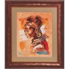 Kit de broderie point de croix Lanarte - 34758 African woman