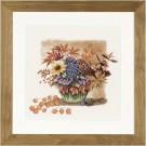 Kit de broderie point de croix Lanarte - 35050A Autumn bouquet